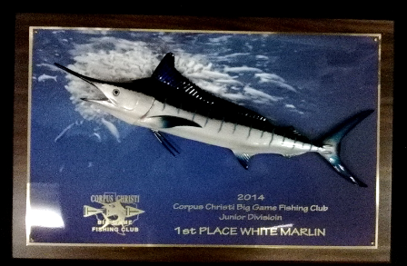 "18"" White Marlin on a Photo Plaque"