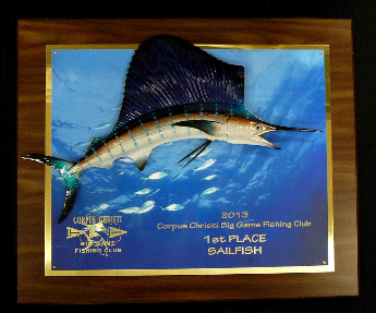 "16"" Sailfish Photo Plaque"