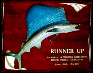 "16"" Sailfish on a Rosewood ""Piano Finish"" Plaque with Gold Laser Engraving"