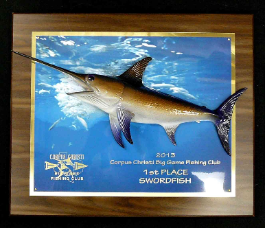 "18"" Swordfish on a Photo Plaque"
