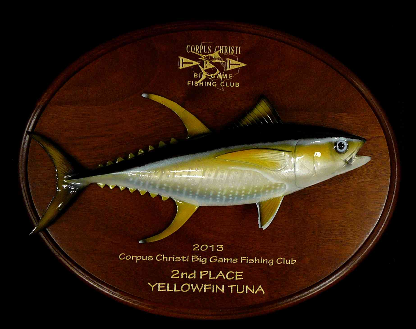 "16"" Yellowfin Tuna Plaque"