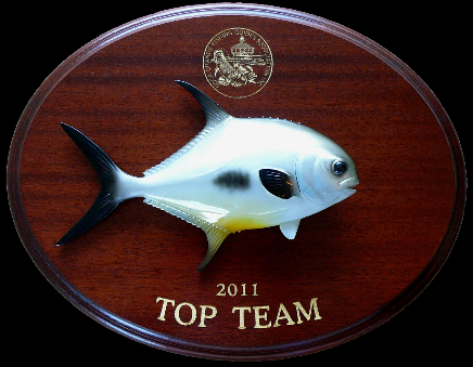 "12"" Permit on a Mahogany Plaque with Gold Laser Engraving"